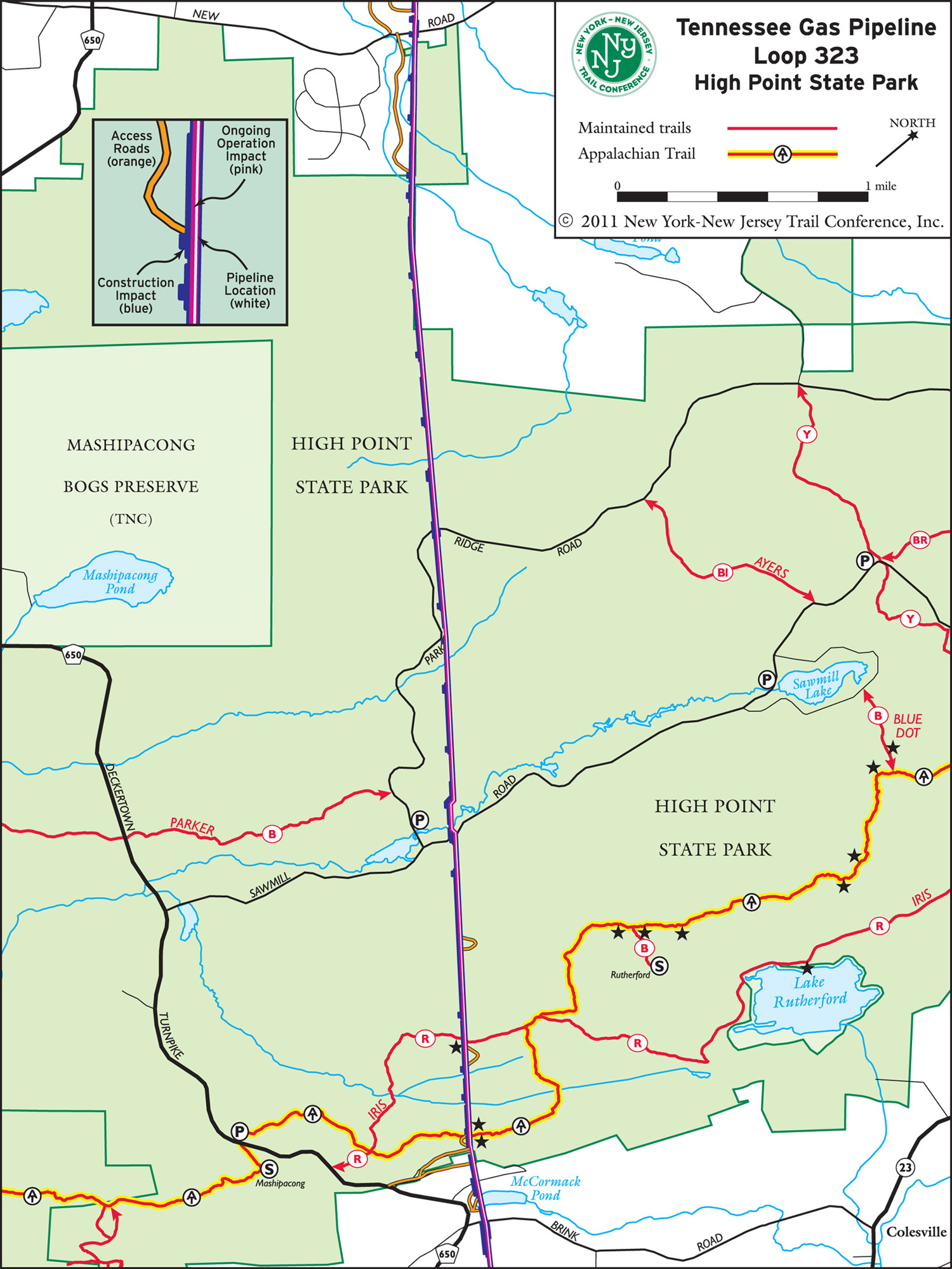 Tennesee Gas Pipeline in Northern New Jersey | New York-New Jersey Trail Conference