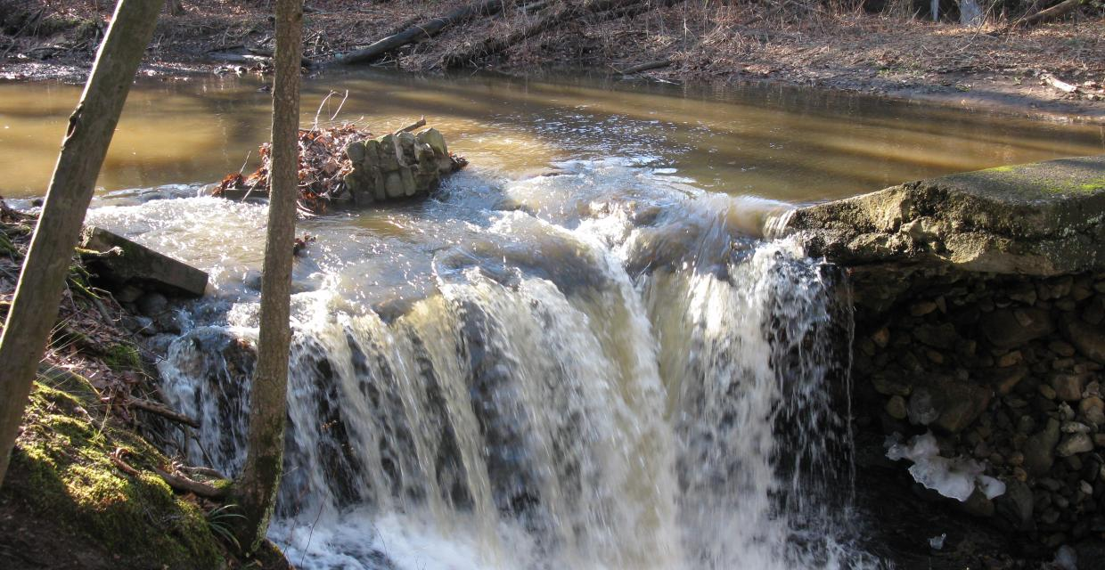 View of waterfall - Kennedy Dells County Park Loop - Photo: Daniel Chazin