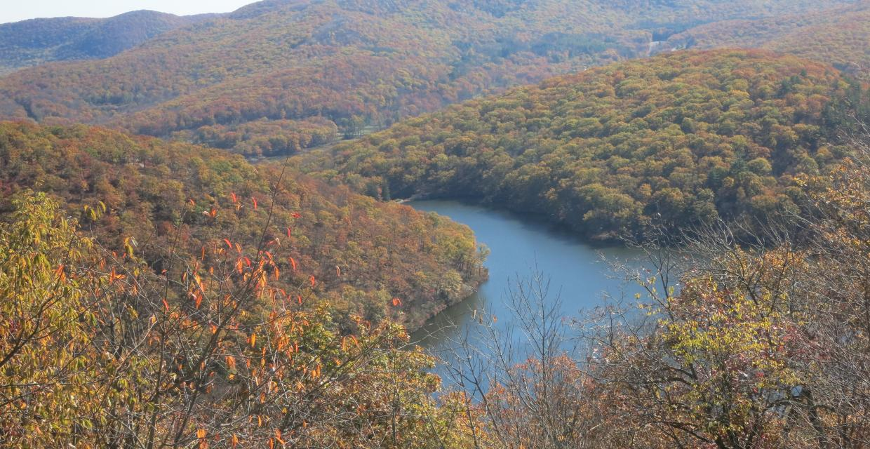 Turkey Hill Lake from Long Mountain - Photo by Daniel Chazin