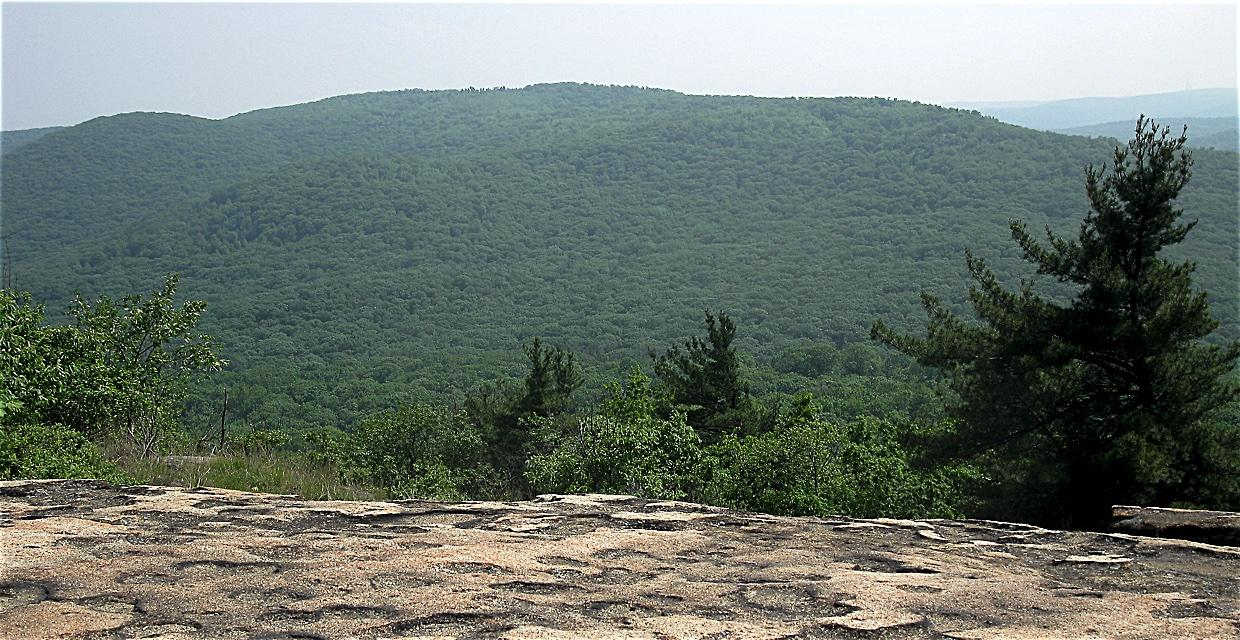 West Mountain From Bear Mountain Summit. - Harriman-Bear Mountain State Parks - Photo by Daniel Chazin