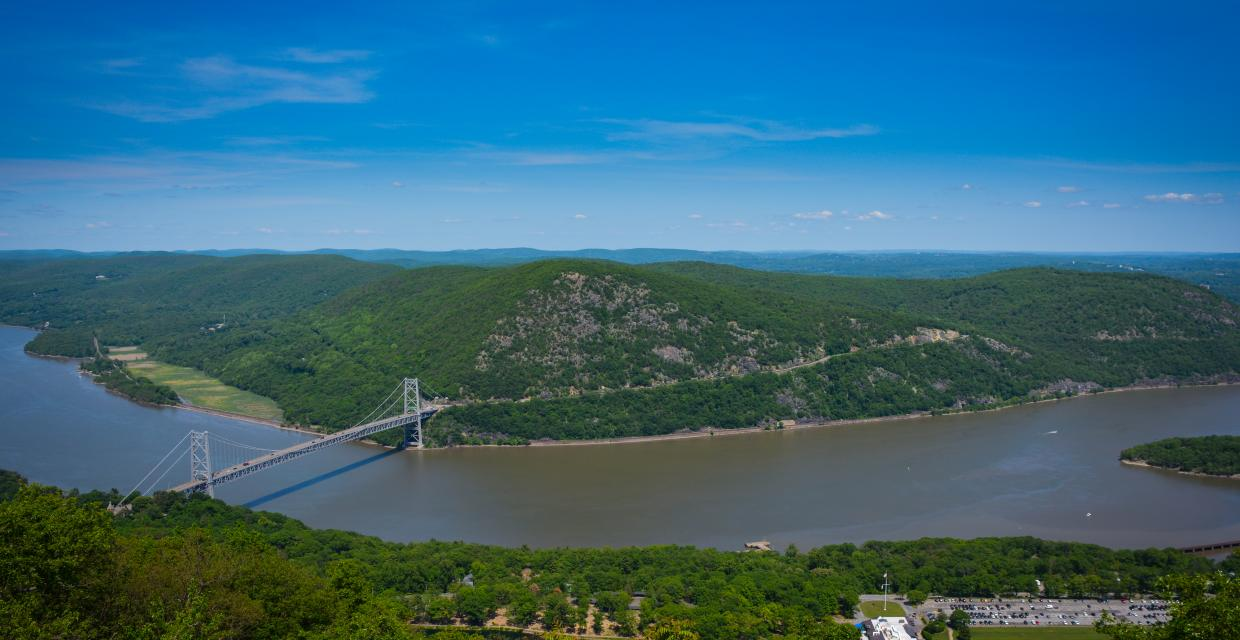Hudson River from Bear Mountain - Harriman-Bear Mountain State Parks  - Photo credit: Josh Howard