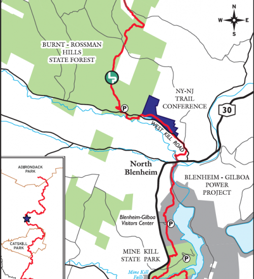 Schoharie Section of Long Path Permanently Protected. Map by Jeremy Apgar.