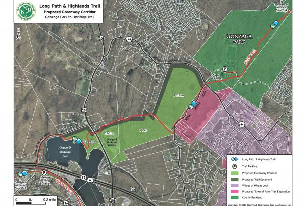 Long Path and Highlands Trail: Proposed Greenway Corridor, Orange County, NY