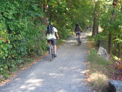 Bicyclists on the Undercliff Carriage Road. Photo by Daniel Chazin.