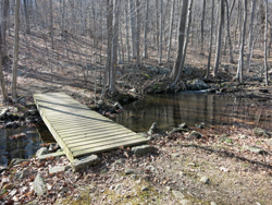 Footbridge on the Yellow Trail. Photo by Daniel Chazin.