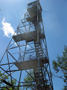Stirling Forest Fire Tower. Photo by Daniel Chazin.