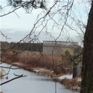 Observation Deck on Old Pump House at Cranberry Bogs