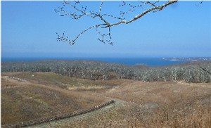 Fort Pond Bay and Block Island Sound from Landfill Overlook