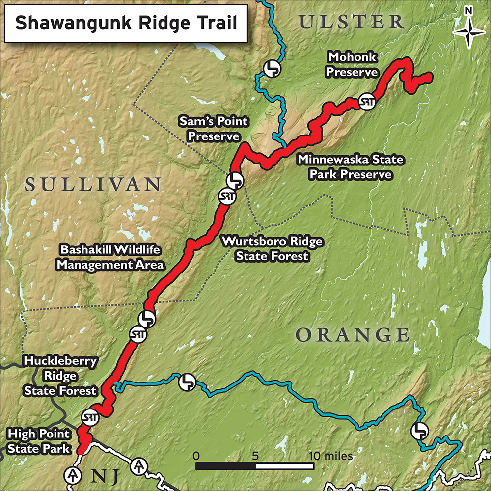 Shawangunk Ridge Trail Overview Map
